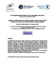 8º CONGRESO IBEROAMERICANO DE INGENIERIA MECANICA Cuzco, 23 al 25 de Octubre de 2007