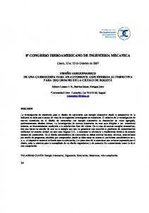 8º CONGRESO IBEROAMERICANO DE INGENIERIA MECANICA