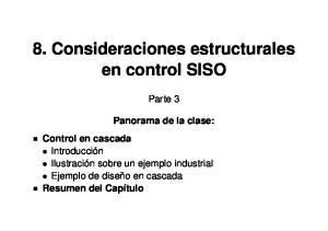 8. Consideraciones estructurales en control SISO