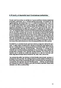 8. El textil y el desarrollo local. Conclusiones territoriales