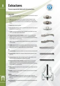 8 Extractores. Proceso especial de fabricación de extractores