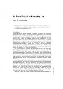 8: From Virtual to Everyday Life
