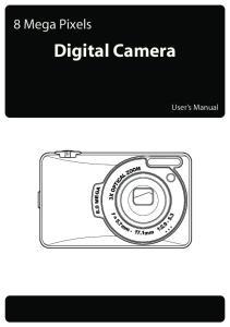 8 Mega Pixels. Digital Camera. User s Manual. f