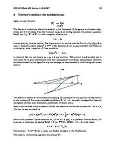 8 Newton s method for minimization
