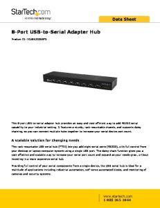 8-Port USB-to-Serial Adapter Hub