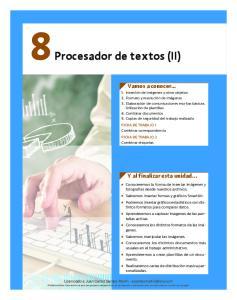 8 Procesador de textos (II)