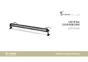 8 RGB DMX LED-fluter. bedienungsanleitung
