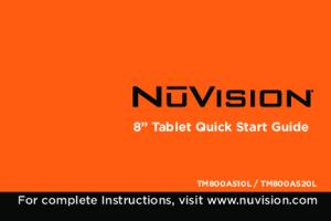 8 Tablet Quick Start Guide