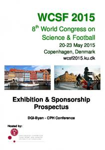 8 th World Congress on Science & Football