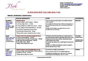 8-WEEK BIKINI BODY CHALLENGE MEAL PLAN