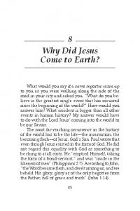 8 Why Did Jesus Come to Earth?