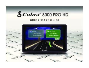 8000 PRO HD QUICK START GUIDE