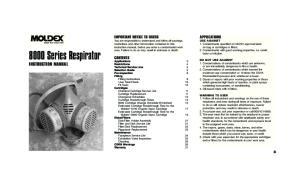 8000 Series Respirator INSTRUCTION MANUAL