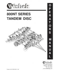 800NT SERIES TANDEM DISC