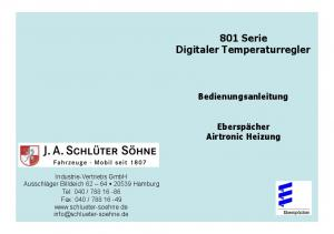 801 Serie Digitaler Temperaturregler