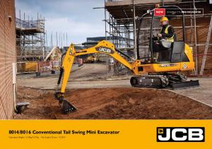 8016 Conventional Tail Swing Mini Excavator