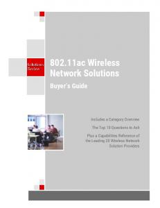802.11ac Wireless Network Solutions