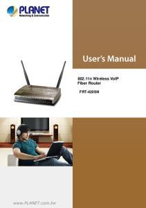 802.11n Wireless VoIP Fiber Router FRT-420SN