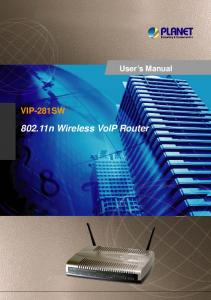 802.11n Wireless VoIP Router