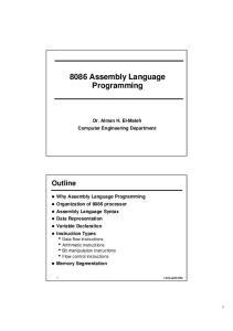 8086 Assembly Language Programming
