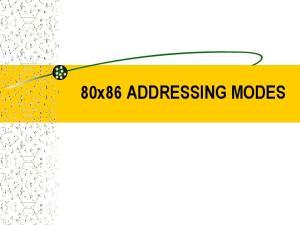 80x86 ADDRESSING MODES