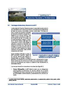8.1 Estrategia Ambiental y Social de la ACP