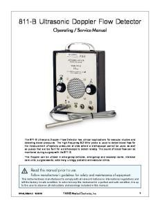 811-B Ultrasonic Doppler Flow Detector
