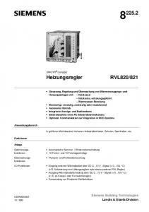 821. Heizungsregler. Siemens Building Technologies Landis & Staefa Division. UNIGYR Compact