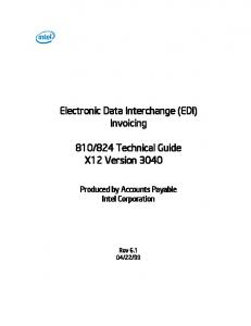 824 Technical Guide X12 Version 3040