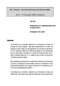 85. Arbeits- und Sozialministerkonferenz 2008