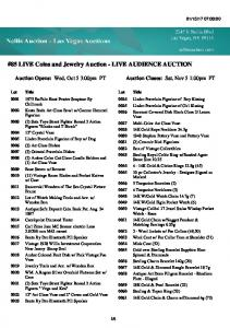 #85 LIVE Coins and Jewelry Auction - LIVE AUDIENCE AUCTION