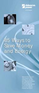 85 Ways to Save Money and Energy