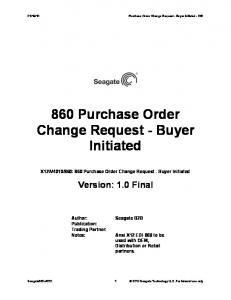 860 Purchase Order Change Request - Buyer Initiated