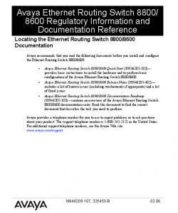 8600 Regulatory Information and Documentation Reference