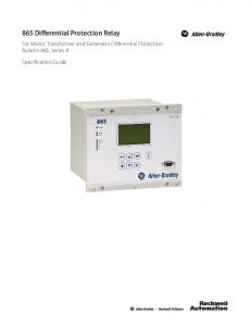 865 Differential Protection Relay