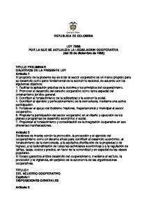 88 POR LA QUE SE ACTUALIZA LA LEGISLACION COOPERATIVA (del 23 de diciembre de 1988)