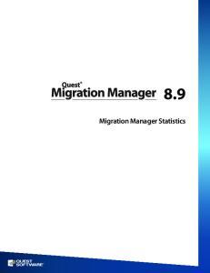 8.9. Migration Manager Statistics