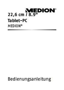 8.9 Tablet-PC MEDION. Bedienungsanleitungg