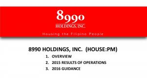 8990 HOLDINGS, INC. (HOUSE:PM) 1. OVERVIEW RESULTS OF OPERATIONS GUIDANCE