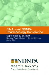 8th Annual NDNPA Pharmacology Conference