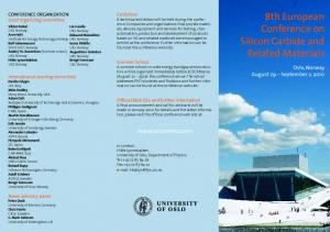 8th European Conference on Silicon Carbide and Related Materials