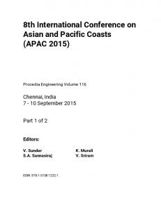 8th International Conference on Asian and Pacific Coasts (APAC 2015)