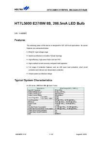 8W 8S, 266.5mA LED Bulb