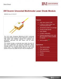 8W 9xxnm Uncooled Multimode Laser Diode Module