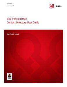 8x8 Virtual Office Contact Directory User Guide