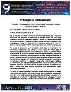 9 Congreso Internacional: