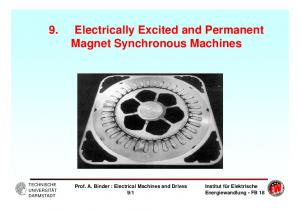 9. Electrically Excited and Permanent Magnet Synchronous Machines