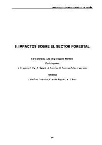 9. IMPACTOS SOBRE EL SECTOR FORESTAL