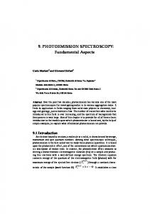 9. PHOTOEMISSION SPECTROSCOPY: Fundamental Aspects