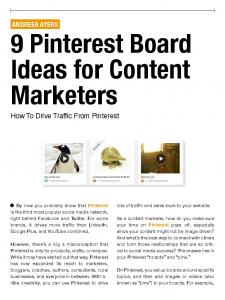 9 Pinterest Board Ideas for Content Marketers